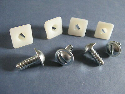 American License Plate mounting kit number plate screws & nuts Dodge Chevy Ford