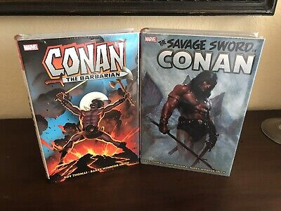 Conan The Barbarian + Savage Sword Of Conan - New And Sealed Marvel Omnibus