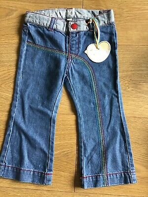 Little Bird By Jools Oliver Girls Flared Denim Jeans Age 12-18 Months 🍄 BNWT 🍄