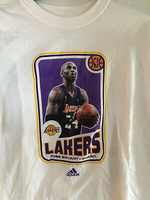 size 40 4ccd7 9c937 Kobe Bryant Los Angeles Lakers Adidas Basketball Card Style T-SHIRT Adult XL