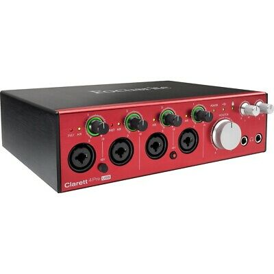 Focusrite Clarett 4 Pre USB 10-in 4-out Audio Interface for PC and Mac, New!