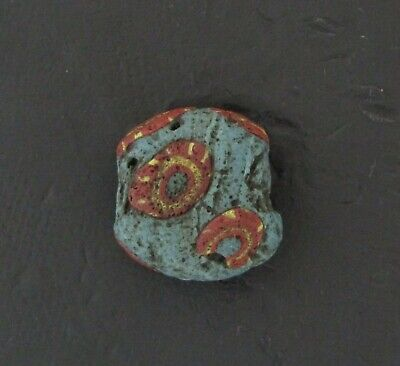 Ancient Glass Bead. Byzantine/Viking Period. Millefiori Mosaic Glass Bead