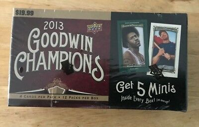 2013 Upper Deck Goodwin Champions Factory Sealed Blaster Box 12/pks