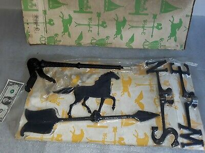 NOS vintage cast aluminum Horse Weathervane in original packaging- NEVER USED