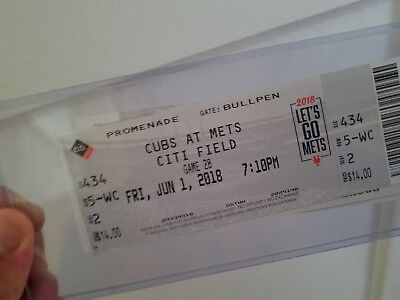 6/1 2018 NEW YORK METS CHICAGO CUBS TICKET STUB Bryant Rizzo Conforto Jersey HR