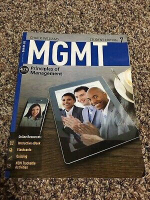 MGMT 7TH EDITION Student Principles Of Management Book Chuck