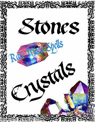 NEW Stones crystals Divider Wicca Book of Shadows 1 parch pg Pagan Occult Spells