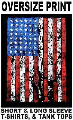 Old Glory American Pride Red White & Blue Usa Flag T-Shirt Ws593
