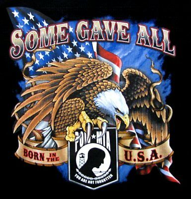 Some Gave All Pow Mia United States Navy Army Marines Air Force Eagle T-Shirt 36