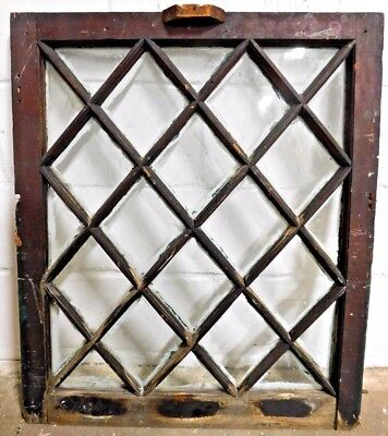 1800's Antique WINDOW SASH Diagonal Pattern VICTORIAN Style Original ORNATE