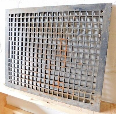 Antique Craftsman Style Floor Grate Heating Vent - C. 1915 Architectural Salvage