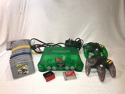 N64 Nintendo 64 w 15 games 2 controllers memory card 2x expansion packs