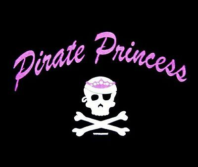 Pirate Princess Caribbean Girls Skull Bones Pink Bow Sweatshirt  84