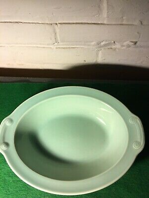 Vintage Lu-Ray Pastels 10 Inch Oval Serving Dish In Surf Green Color From 1940's