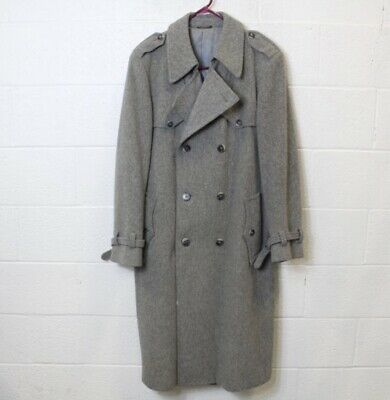 b1e3c80266a31 Authentic Men s Christian Dior Sport Trench Coat 42L Gray Double Belt 100%  Wool