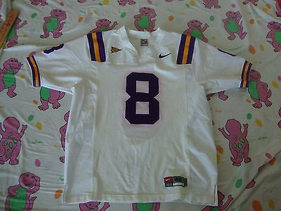 huge discount 6c327 76c2a SEC LSU TIGERS NCAA NIKE AUTHENTIC Sewn Football Jersey Men's Size 48