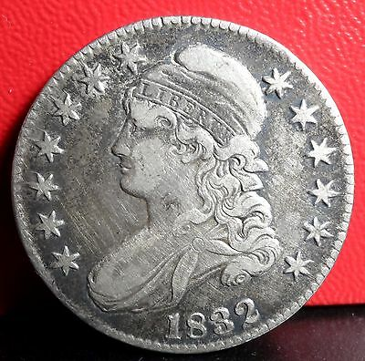Beautiful High Grade 1832 Small Letter Silver Capped Bust Half Dollar (2a)