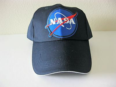 new arrival 606c0 a03b9 NASA Astronaut Space Logo Embroidered Patch Cap - Blue Hat