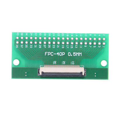 1Pcs 40Pin 0.5mm FFC FPC to 40P DIP 2.54mm PCB Converter Board Adapter Jn
