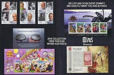 Australian Post Year Collection 2010 (92 stamps) EX YEAR BOOK all MNH NICE LOT!!
