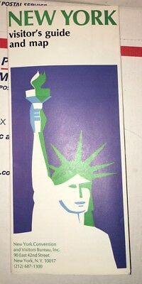 Vintage 1970 New York City Map and Visitors Guide