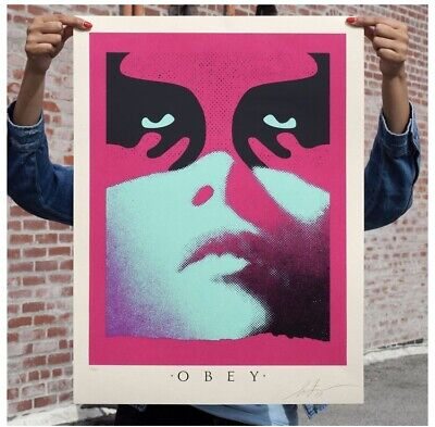 OBEY Shadowplay (Blue) Signed & Numbered Screen Print (18x24) 1 OF ONLY 350