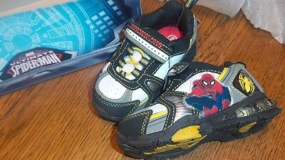 NWT MARVEL BOYS TODDLERS ULTIMATE SPIDER-MAN SNEAKER ATHLETIC SHOES 5,6,7,8,9,10