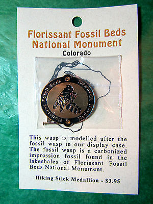Florissant Fossil Beds Natl Monument Wasp Hiking Medallion Co Travel (H70)