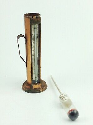 Antique Distillers whiskey alcohol hydrometer Carbondale PA Griebel copper