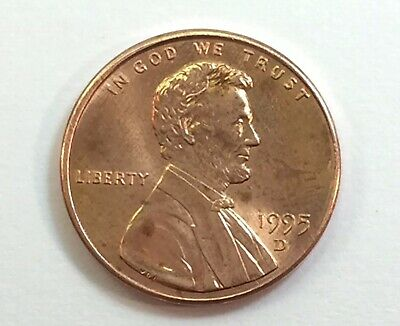 Error Coin 1995 D United States One Penny ( Double Die On Reverse )