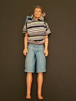 Vintage 1968 Ken Barbie Doll Casual Outfit & Bookbag Great Shape Made In China