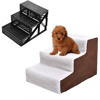 Pet Stairs Dog Steps Indoor Ramp Folding Animal Cat Ladder with Cover