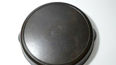 Vintage Griswold No. 12 Cast Iron Skillet 719 D Frying Pan With Heat Smoke Ring