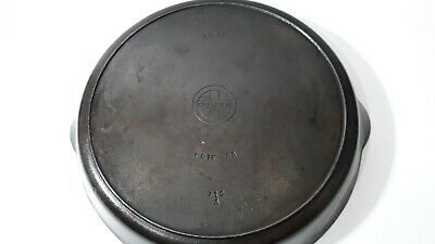 Vintage Griswold No. 12 Cast Iron Skillet 719 A Frying Pan With Heat Smoke Ring