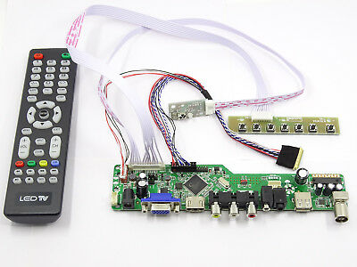 Kit for B156HTN01.0 TV+HDMI+VGA+USB LCD LED screen Controller Driver Board