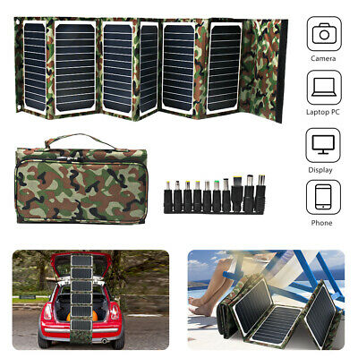 Foldable Battery Charger 18V 40W Portable Solar Panel USB Power Bank Waterproof
