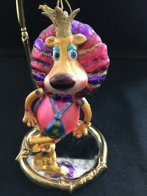 Katherine's Collection Lion Christmas Ornament Hand Blown Glass