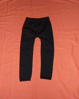 Fabric and Fabric F & F Girls Black Fleece Lined Leggings One Size New with tag