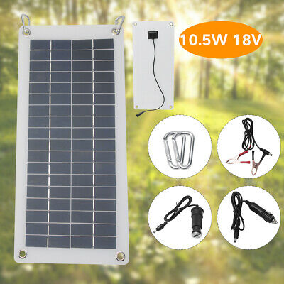 10.5W 18V Polysilicon Solar Panel Power USB Portable Home Car Battery Charger