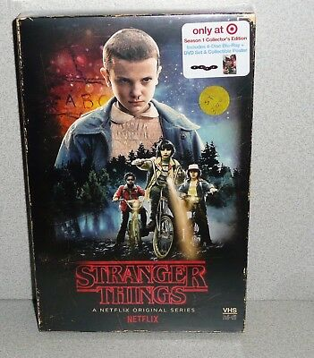 Netflix STRANGER THINGS SEASON 1 4 Disc Blue Ray & DVD Set Target Exclusive New