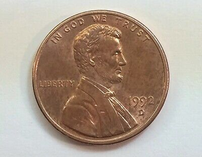 Error Coin United States 1992 D One Penny ( Double Die Obverse & Reverse )