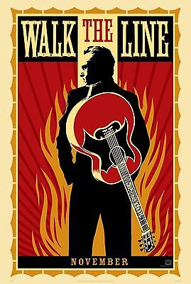 Walk the Line Original S/S Johnny Cash Film Rolled Movie Poster 27x40 NEW 2005