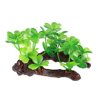Plastic Clover Aquarium Fish Tank Landscaping Decorations Resin