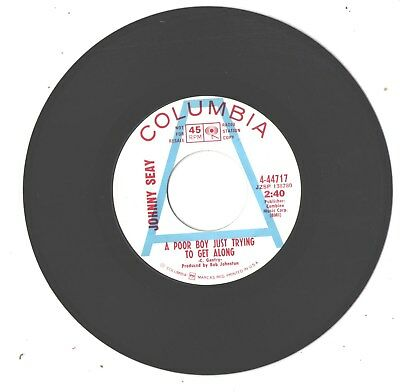 Johnny Seay--7'-Promo 45--(Poor Boy Just Trying To Get Along)--Near Mint