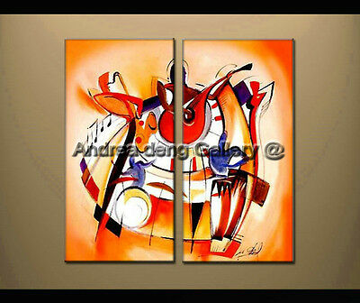 Large Modern Abstract oil painting Alfred Gockel Repro on Canvas Wall Art A1438