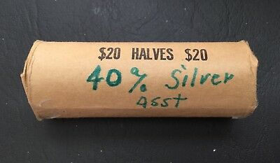 Roll of 40: 1967, 1968-D &1969-D 50c Kennedy SILVER Half Dollars $20 face value