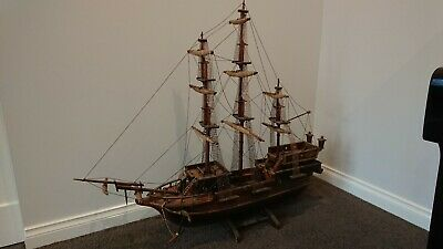 """Vintage Handcrafted Wooden Ship """"Spanish Galleon"""" Large 1200mm x 1000mm x 350mm"""