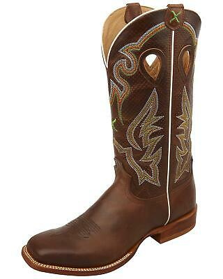 c166914e1f3 TWISTED X MEN'S Rancher Tobacco Smooth Ostrich Cowboy Boots MRAL014 ...
