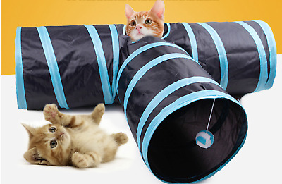 Best Inactive Foldable Tunnel Cat & Dog 3 Ways Play Pet Supplies Training Toys