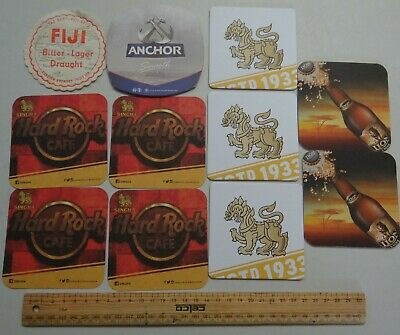 11 x  COLLECTABLE ASIAN SOUTH PACIFIC BEER COASTERS / MATS BB21